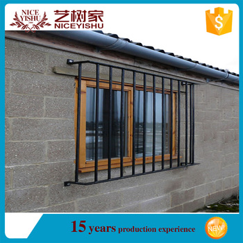 2016 Hot Sale India Style Modern Flat Top Steel Window Grill Design