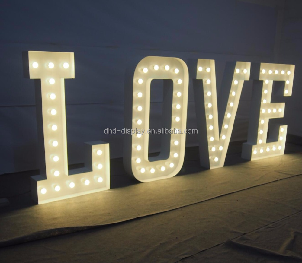 Large Vintage Outdoor Metal Signs Marquee Letters Love Signs