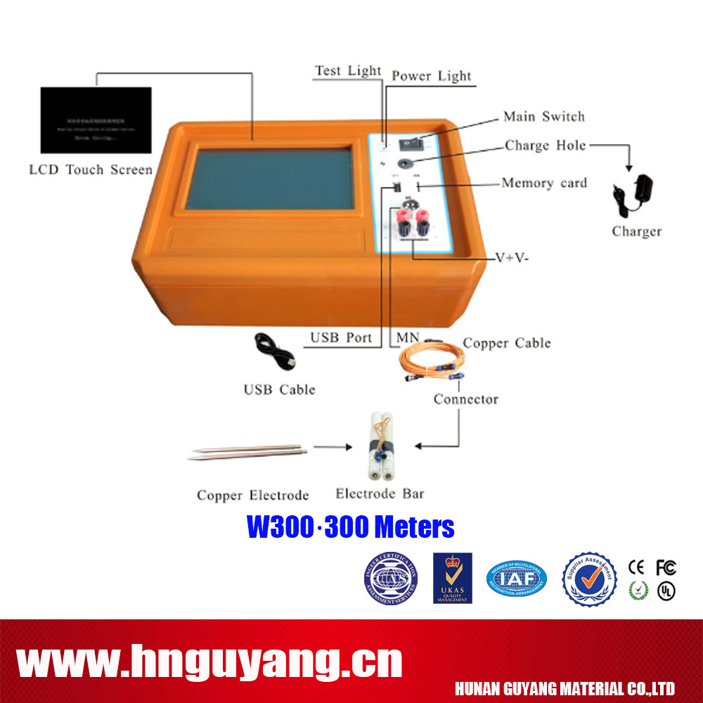 W-300 Cave Geophysical Exploration Groundwater Mine Detector for 300M