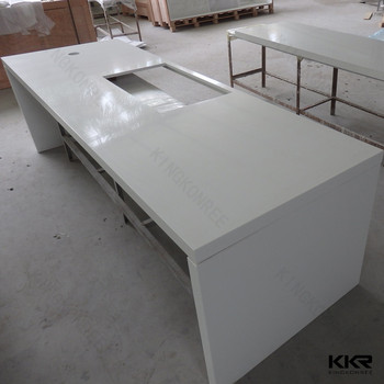 Restaurant White Table Tops Marble Look Kkr Solid Surface Countertop Material Buy Quartz