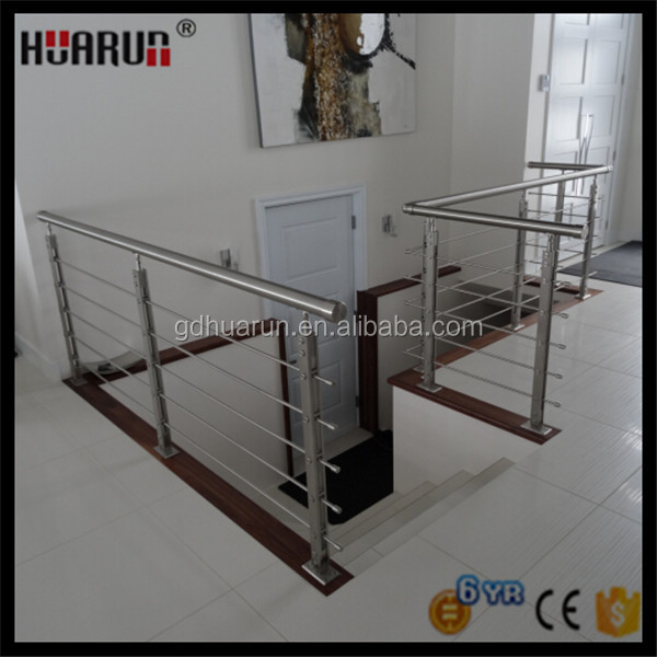 Top quality indoor stainless steel rod railing stainless steel balustrade