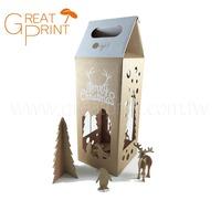 Christmas LED Light Kraft Cardboard Toy Handle Gift Box