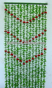 Wholesale Fabric Hanging Plastic Flower Beads Bamboo Door Curtain