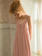 Длинная Ночная рубашка из хлопка для женщин, элегантные розовые платья для сна в стиле принцессы, свободные сексуальные платья(Китай)