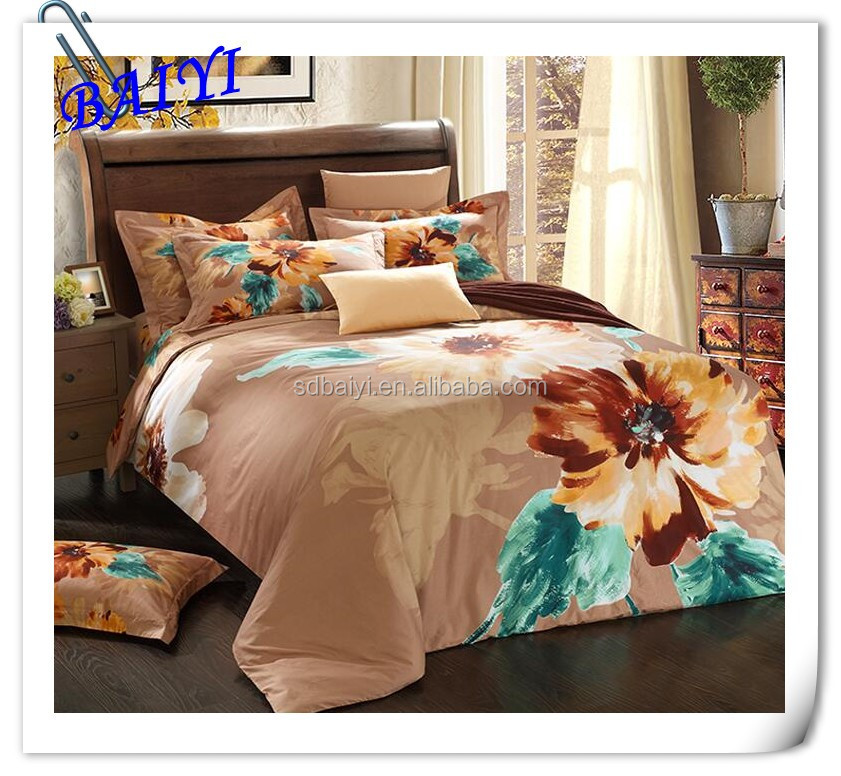 woven fabric and brushed bedsheet hometextile with beautiful printing