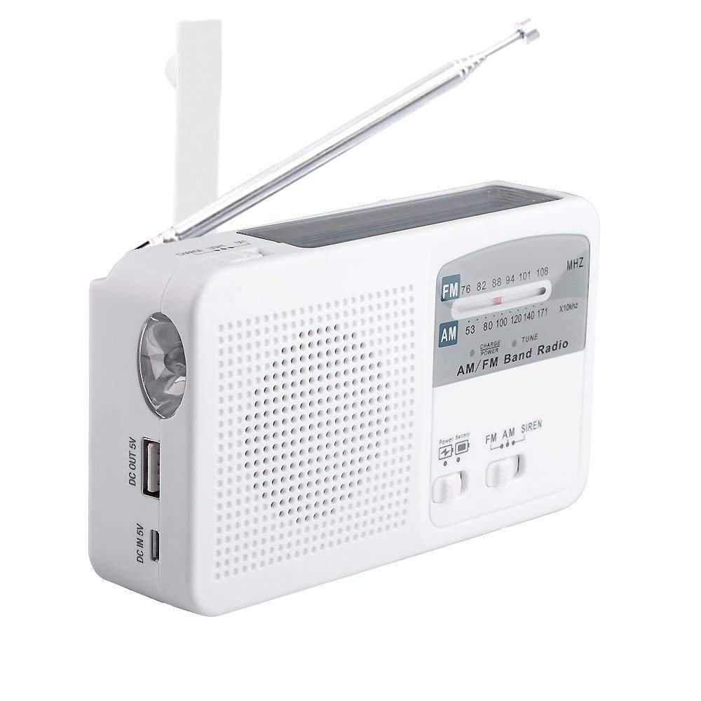 8cf05efc3ff RD369 Solar Rechargeable Radio Emergency Hand Crank Powered AM FM Radio  with LED Flashlight Alerted and Cell Phone Charger