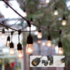 Weatherproof Patio String Lights Indoor Outdoor 48ft Commercial Christmas Lights Strand With 15 Hanging Sockets String Light