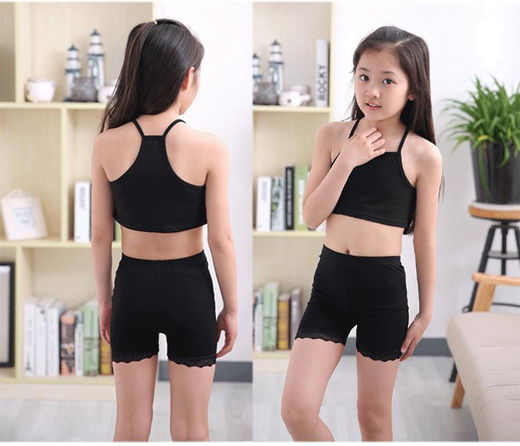 40f09914af4a 2019 110 165cm Girl Kids Sports Vest Child Latin/Belly Dance Tops ...