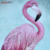 Hot selling Flamingo wall art canvas painting with hand paint canvas embellishment