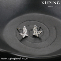 92733-korean fashion jewelry 925 silver cz diamond earrings