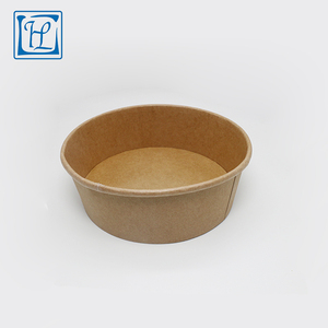 48oz Thick food use biodegradable round take away paper packing bowl with lid 1500ml