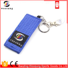 Martial arts taekwondo/karate/bjj mini belt key chains,taekwondo accessory