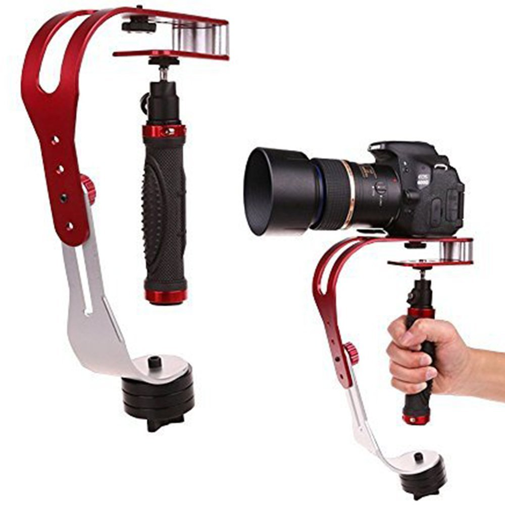 Handheld video Camera Stabilizer Steady, Perfect for Cannon, Nikon or any DSLR camera up to 2.1 lbs With Smooth Pro Stead