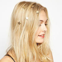 Instagram New Design Original bobby pin wedding Metal Golden Rotary Pentagonal Star Hairpin