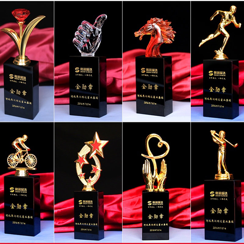 Blanks horse trophy crystal gift items acrylic sports glass trophy award