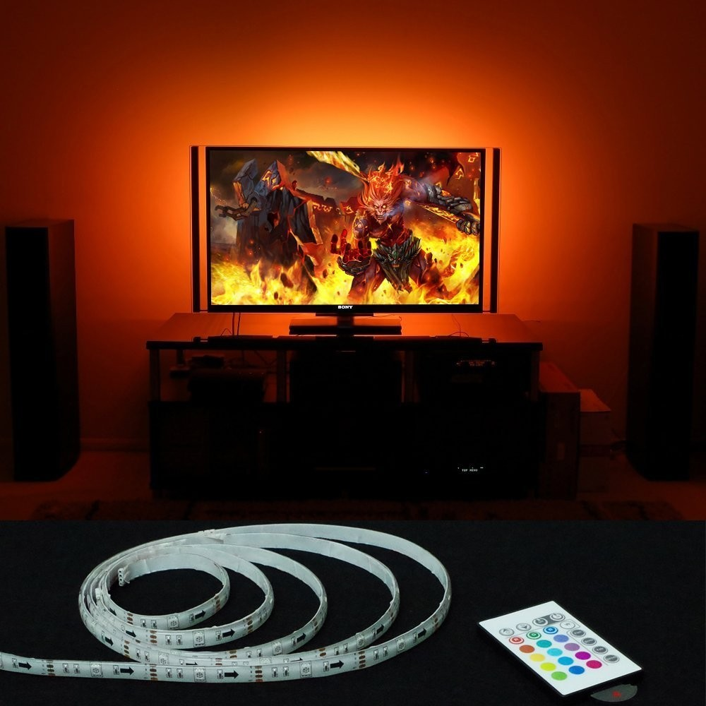 TV Home Theater LED Color Lighting Kit / USB Power / Peel and Stick Light Strips