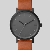 Top Brand Simple Fashion Women Men Unisex Leather Watch