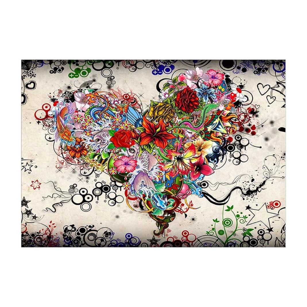 5D Diamond Painting, Staron Hot Sale DIY Diamond Embroidery Rhinestone Painting Crafts & Sewing Cross Stitch Kit Wall Art Decor 5D Diamond Painting Art Craft Home Decor, Heart Flower (F❤️)