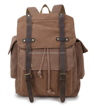2016 Most popular Washed Canvas laptop backpack for school