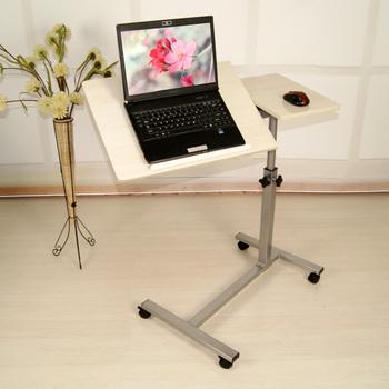Height Adjustable Laptop Table Workstation On Wheels