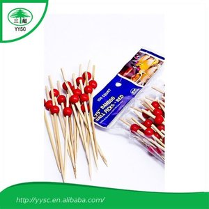 Special Cheaper black beads bamboo food sticks