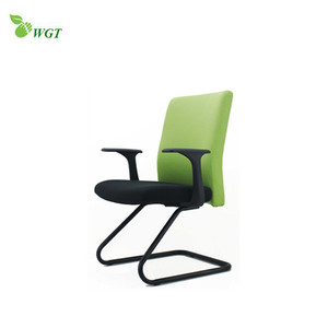 Modern fixed leather conference office chair