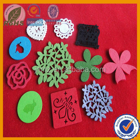 Popular Felt Fancy Cup Mats Crafts, Decorative Textiles,craft felts shijiazhuang producer.