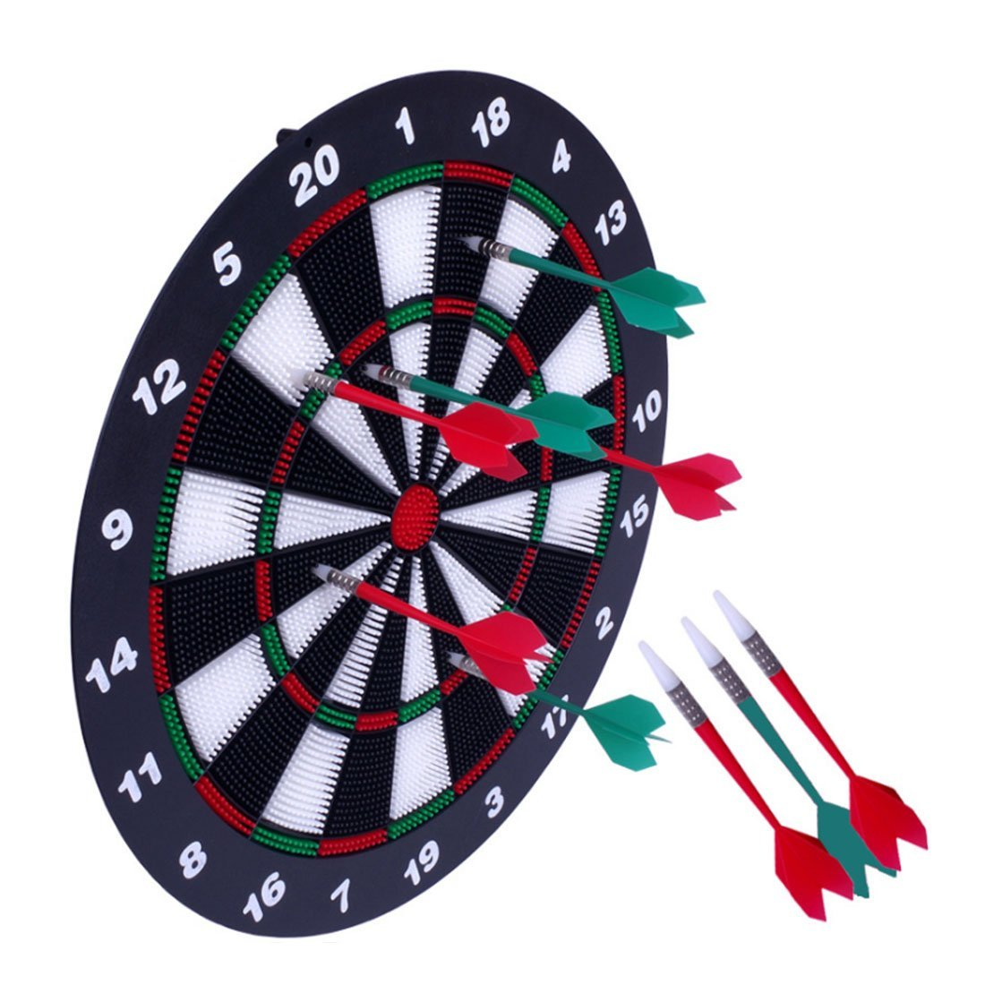 RuiyiF Dart Board and Darts Set for Kids Adults Comes with 16.5Inches Safety Dart Board Metal Pallet and 6Darts