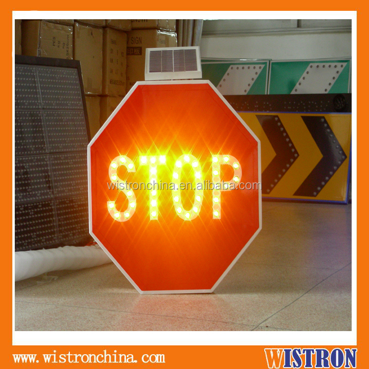 Great aluminum led road safety signs solar traffic flashing yellow arrow sign