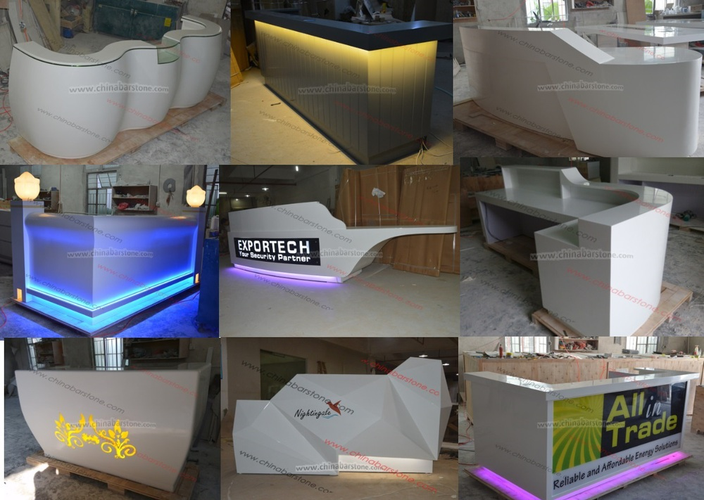 High quality reception counter mobile small reception desk for Reception mobile