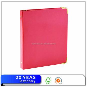 promotional a4 hardcover paper file folder 2 ring 3 ring binder