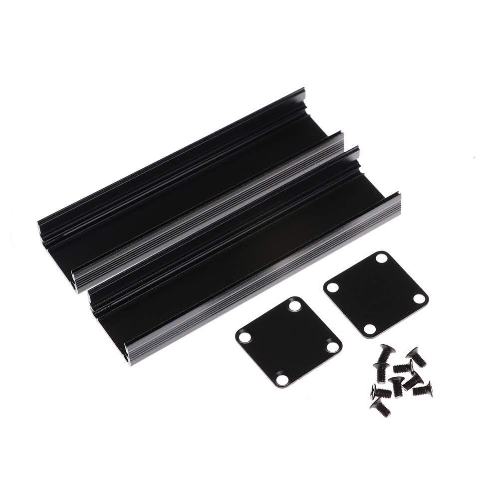 NIDIBI 1Set Black Extruded Aluminum Case Enclosure Electronic Project Case for PCB Extruded Aluminum Box 100x25x25mm HIGHT QUALITY