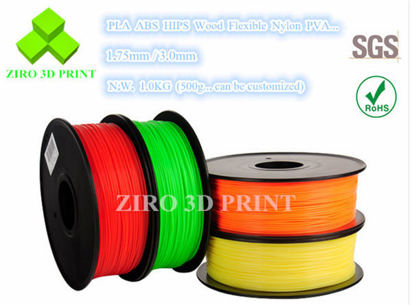 Premium Filament 3D PLA ABS Filament for 3D Printer