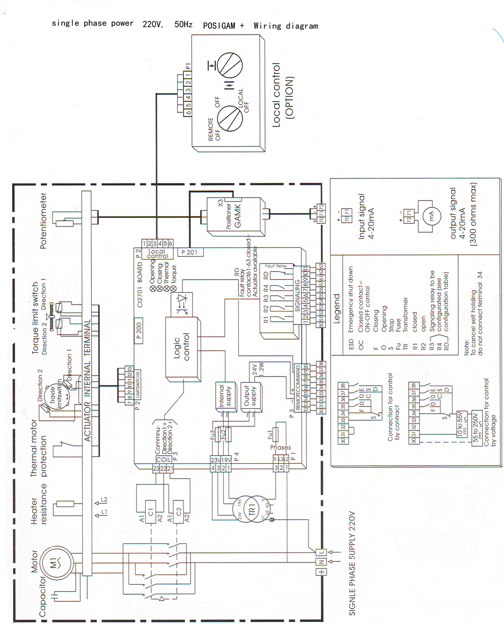 rotork iq 20 wiring diagram   27 wiring diagram images