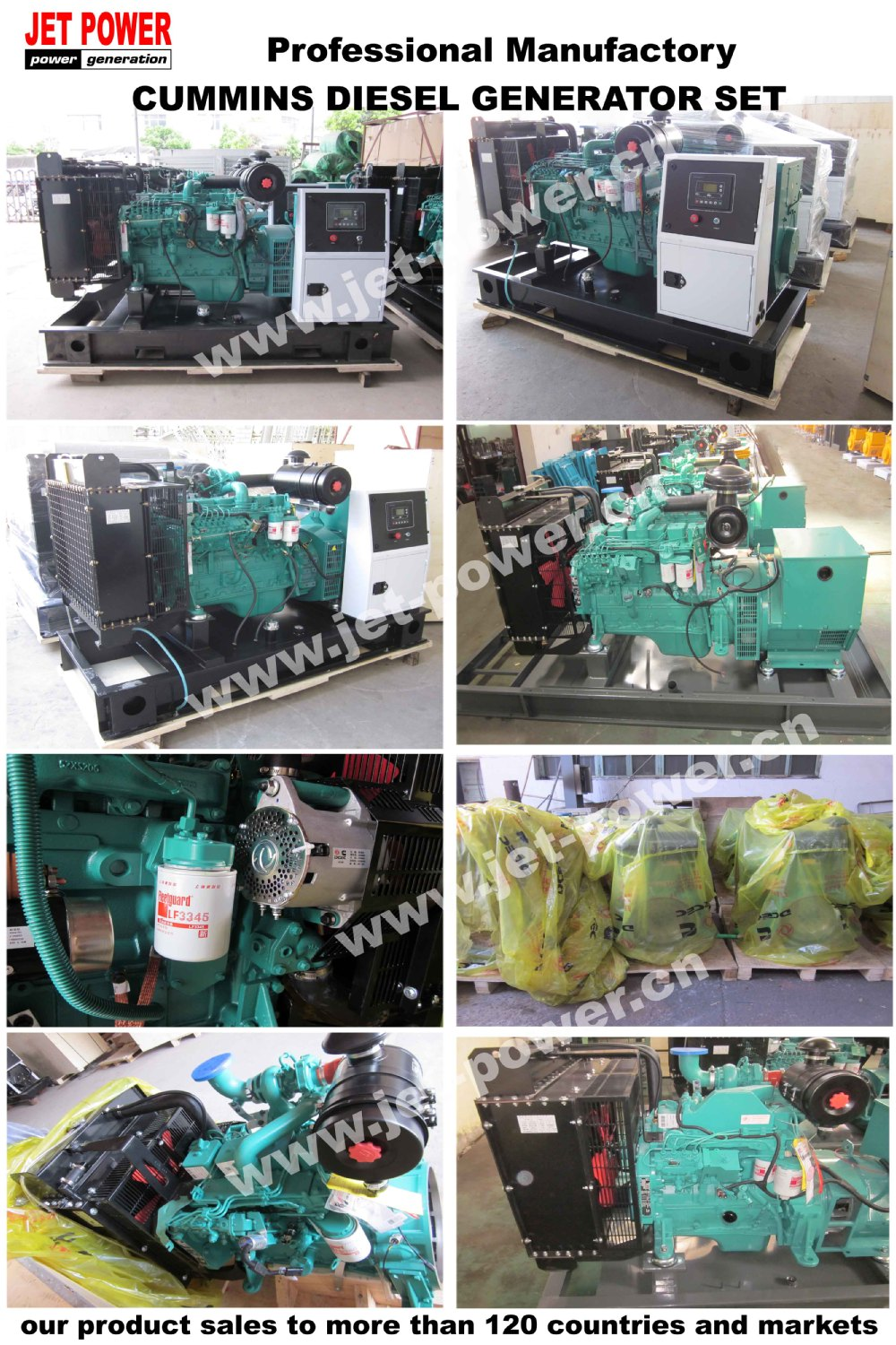 Silent/open Type 11kv Generator Set