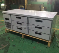Under counter fridge with drawer, stainless steel refrigerated cabinet with drawer