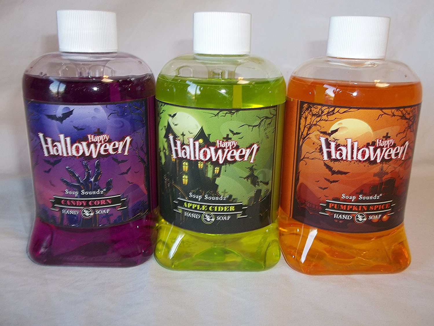 set of 3 happy halloween hand set of 3 happy halloween hand soap soundz pumpkin spice