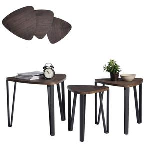 Set of 3 Night Stand Table Nesting Corner dining Table for living room home furniture coffee table set modern