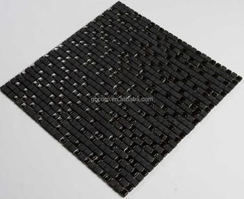 Mm nero romano opus vetro smalto mix mattonelle di mosaico di