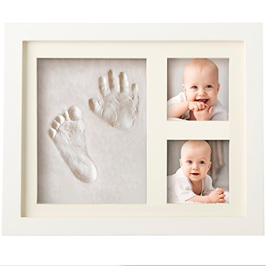 Baby Hand & Foot Print Picture Wood Frame For Shower Gifts
