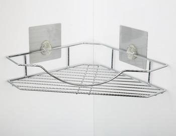 New Eco Friendly Shower Room Corner Shelf Accessories Holder Rails Bathroom