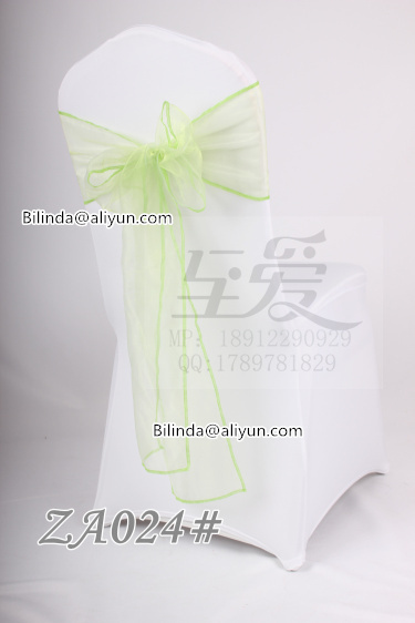 cheap fancy chair sash organza sash