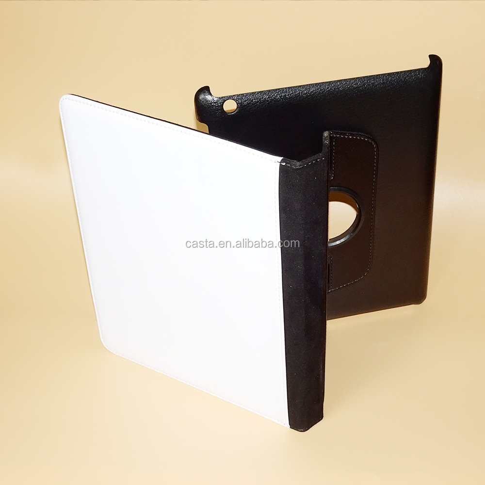 Factory direct computer set Custom Blank sublimation Swivel Stand 360 degrees to the tablet computer case For Apple iPad Air 2