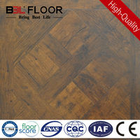 12mm AC3 medium yellow river tauari wood hdf flooring SYS-2
