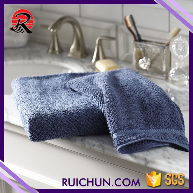 new wholesale chinese customized plain hand towel with dobby design