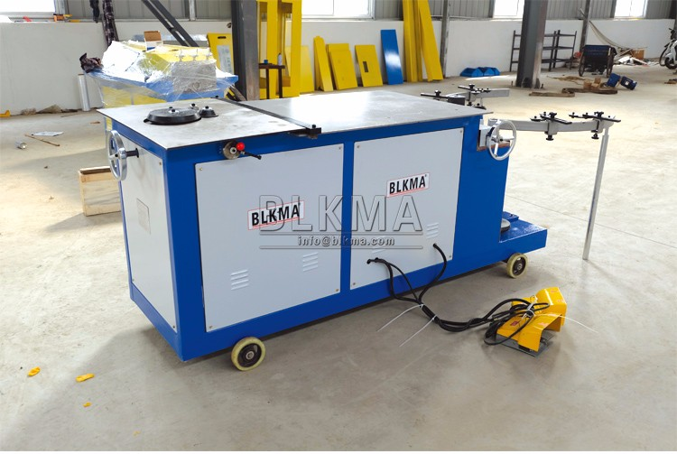 Electric Steel Sheet Metal HVAC Round Air Duct Elbow Machine