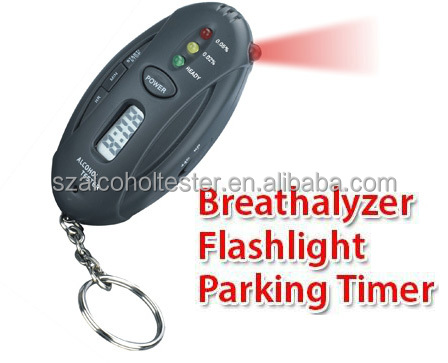 LED Alcohol Breath Tester Machine Alcohol Test For Drink 2120 With Torch