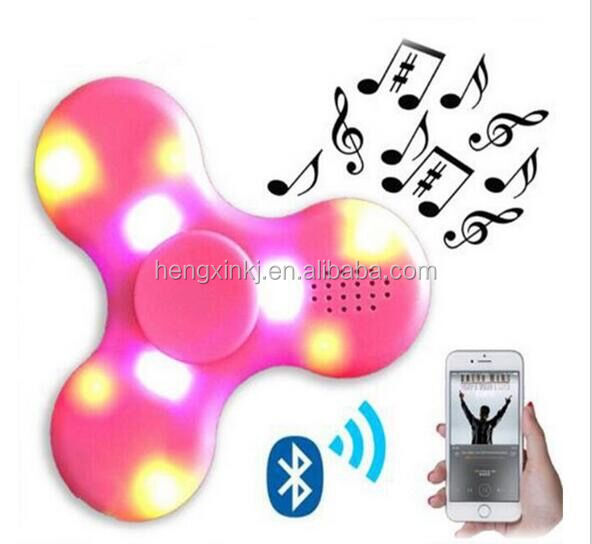 Fidget Spinner LED Bluetooth Speaker Hand Spinner 2017 hot sell Finger Spiner Toys Pink Blue Green White