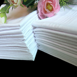 Weaving Face Towel White Printing Pure Cotton Square Handkerchief