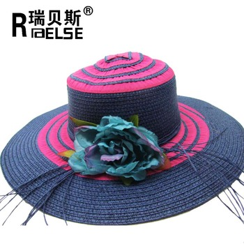 244a5d06 fashion panama beach hat with flowers women paper straw hat, View ...